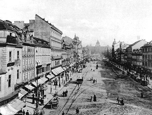 Wenceslas Square end of 19th century