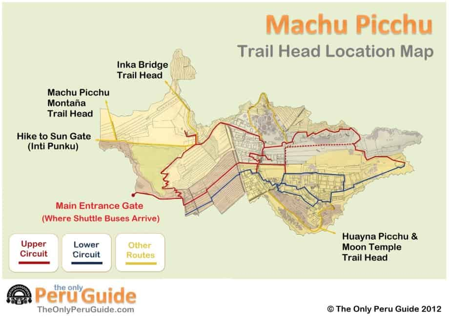 Machuu Picchu Trail Map