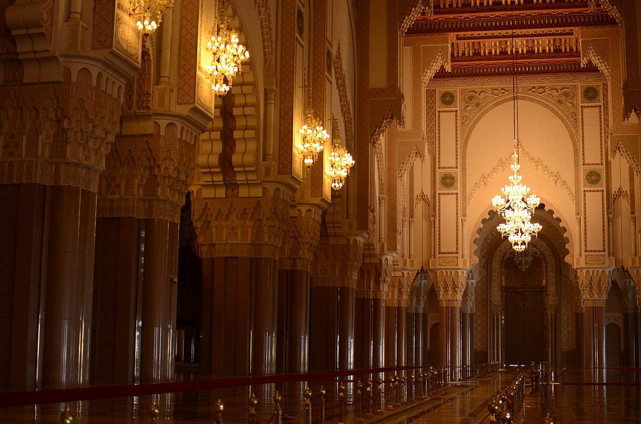 Inside of Hasan II Mosque