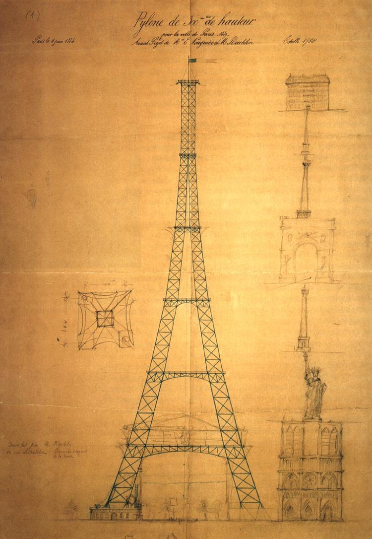 Original Plan of Eiffel Tower
