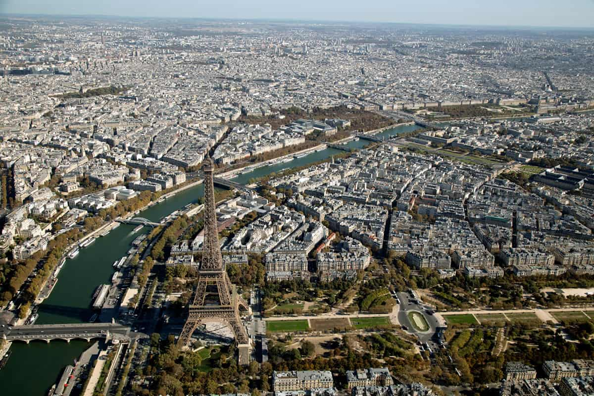 Eiffel Tower from above