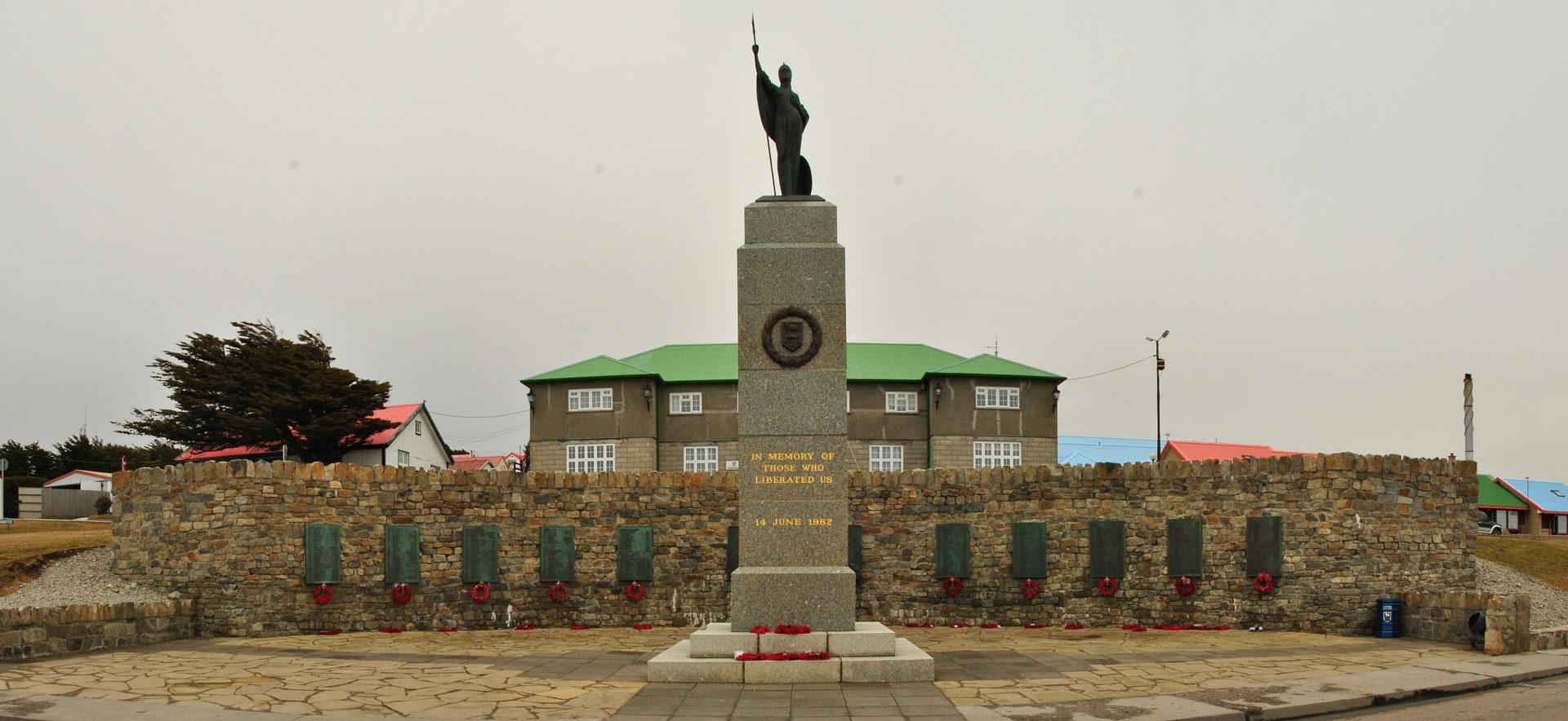 The Falklands War Memorial in Stanley Falkland Islands