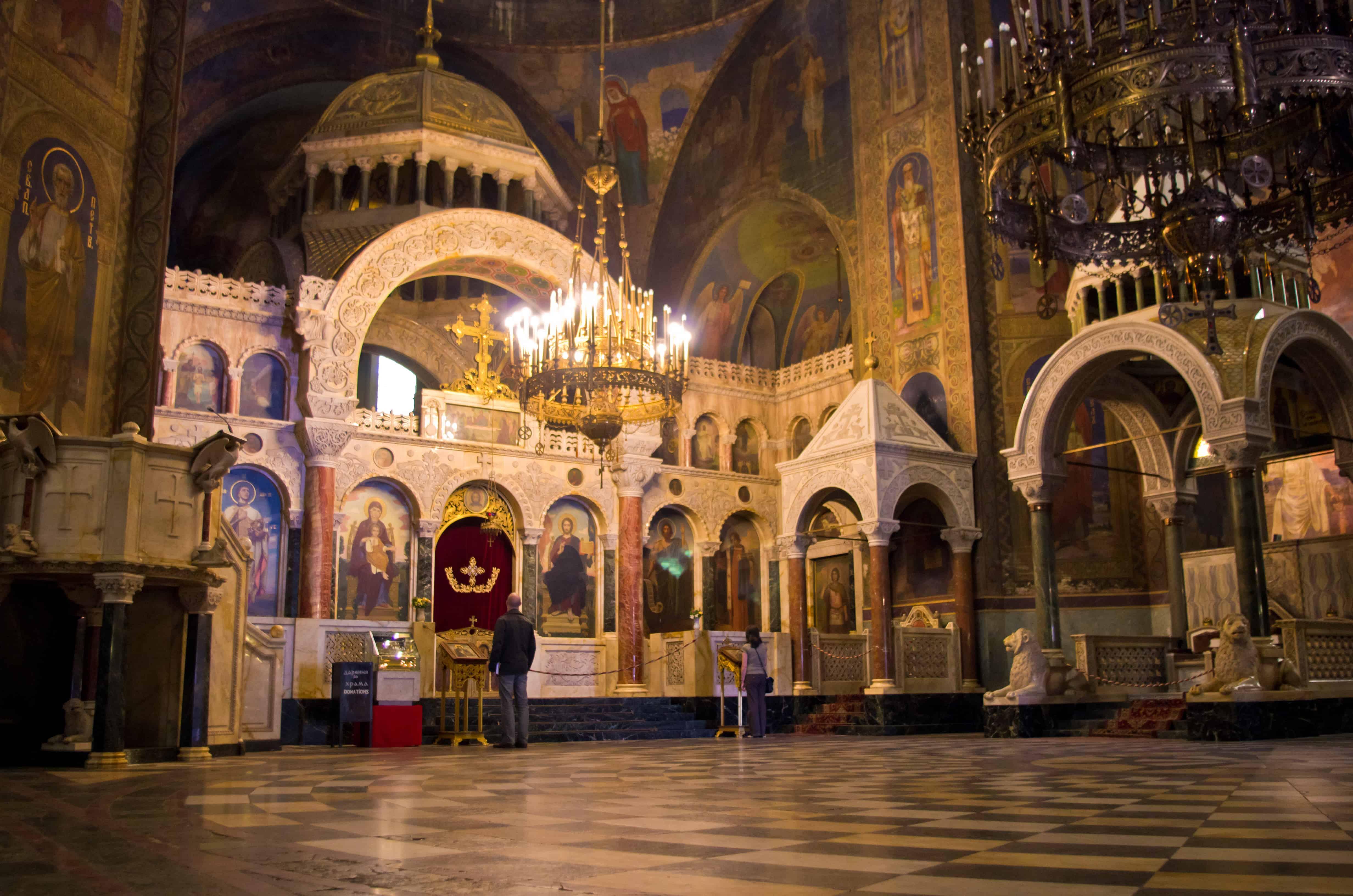 Inside of the Alexander Nevsky Cathedral
