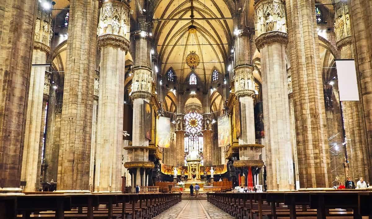Inside of Duomo di Milano