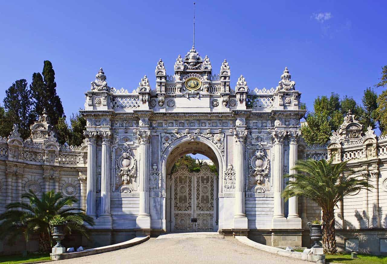 Outer gate of the Dolmabahce Palace