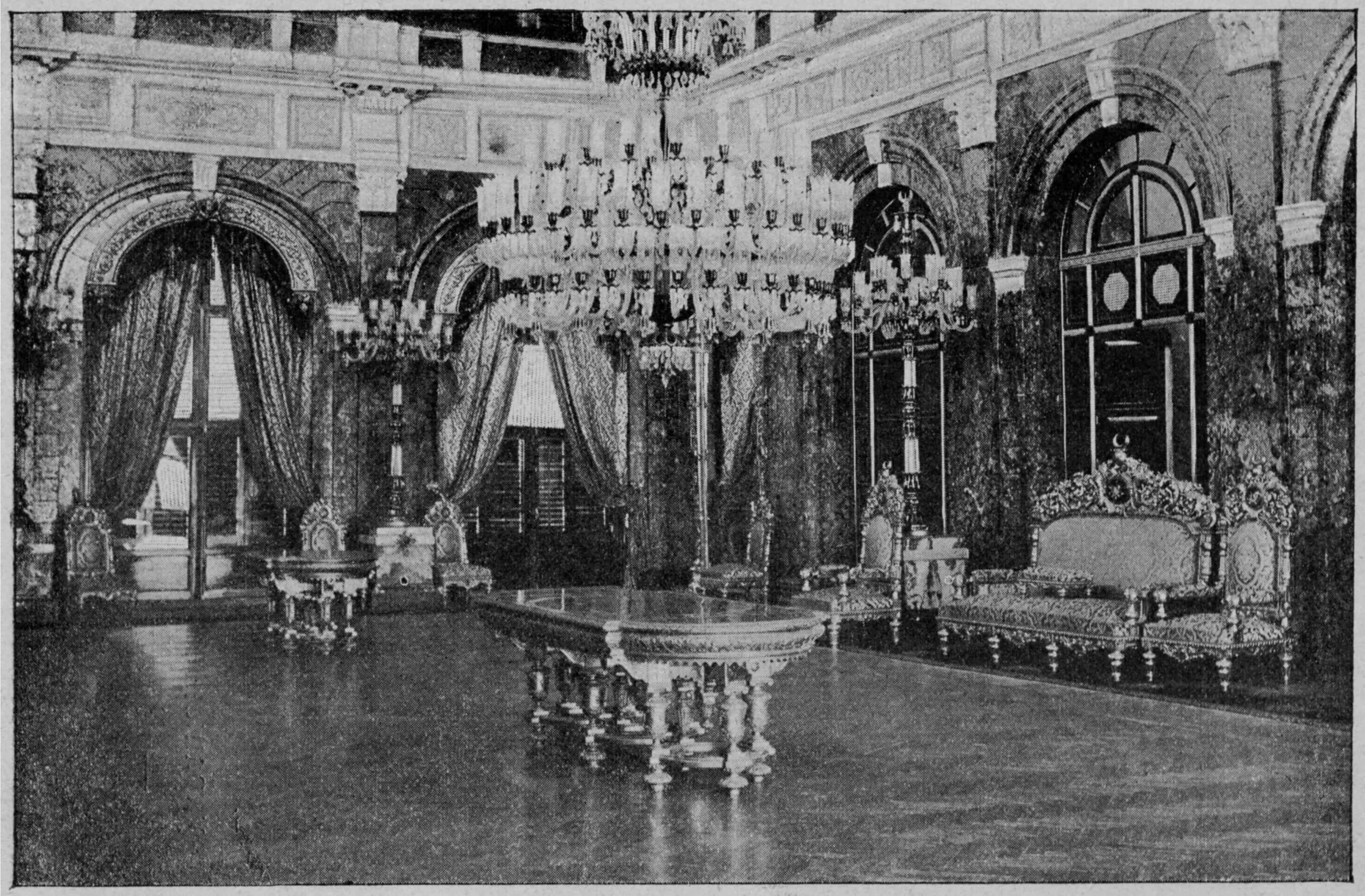 Dolmabahce Palace throne room