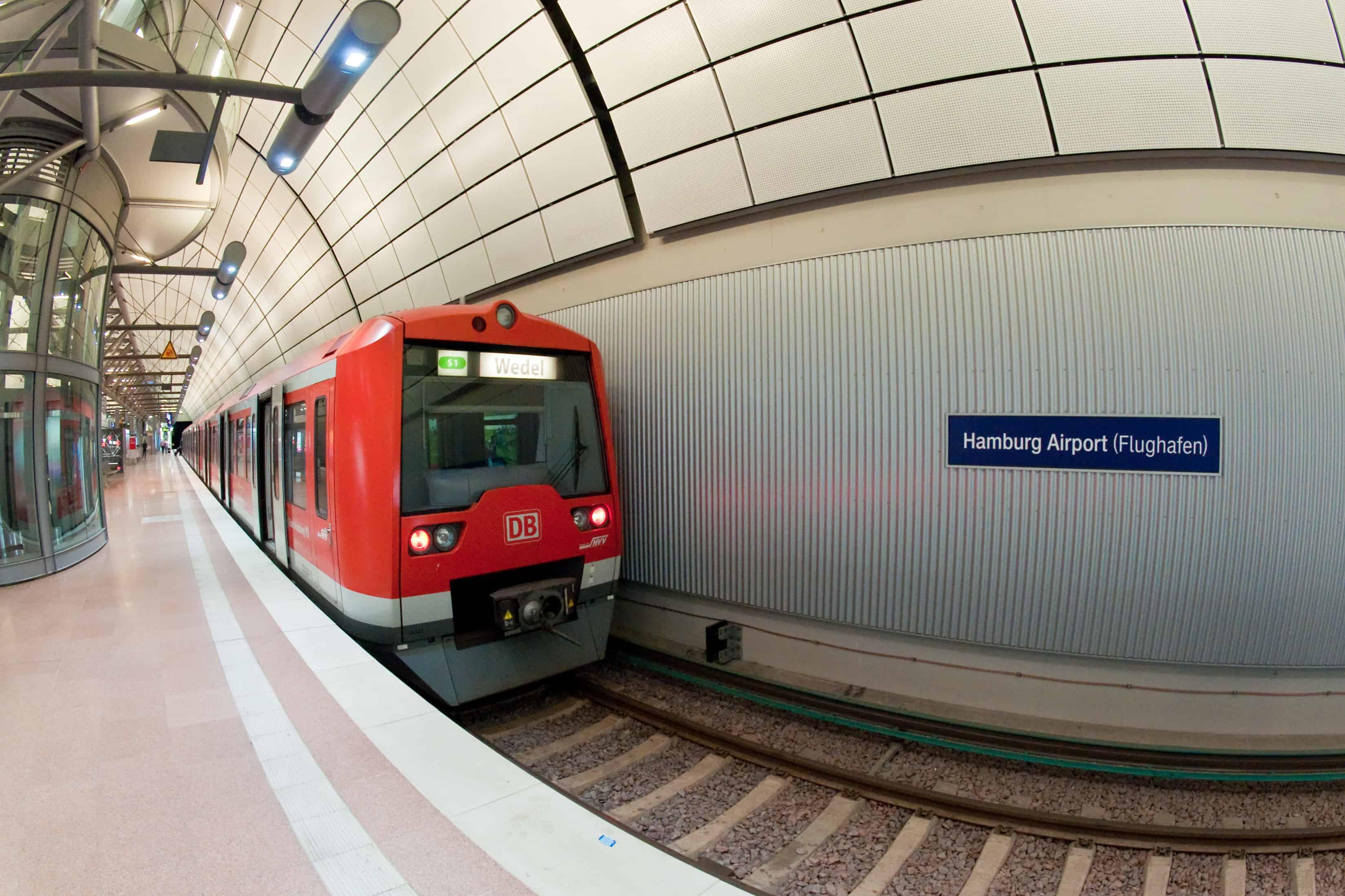 Hamburg Airport S-1 Metro Train