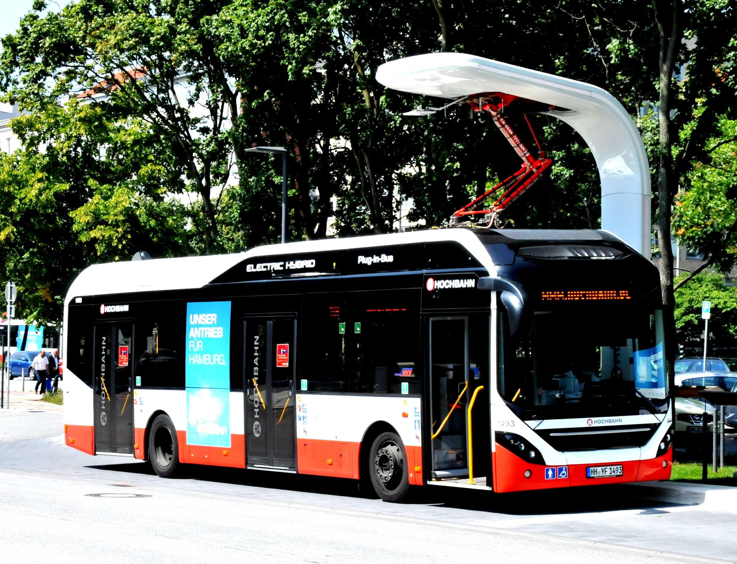 Electrical buses of HVV