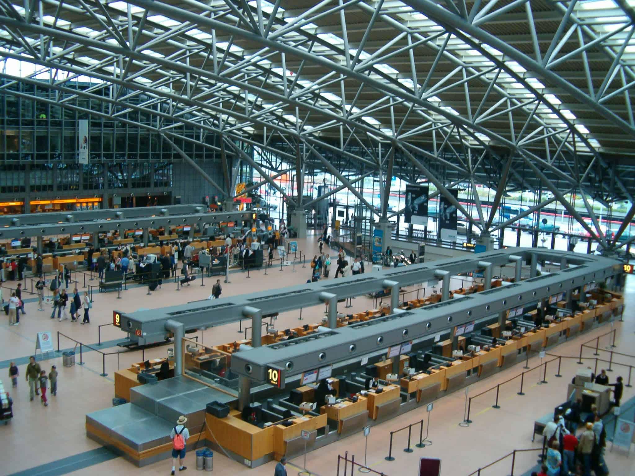 Interior of the Hamburg Airport