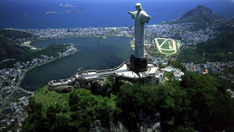 Christ the Redeemer Statue from above