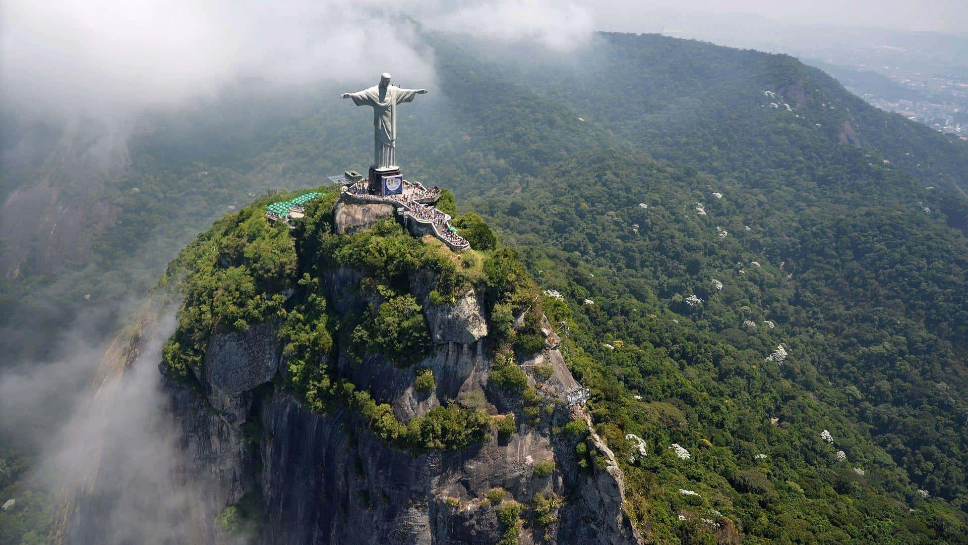 Christ the Redeemer Statue the symbol of the Rio de Janerio