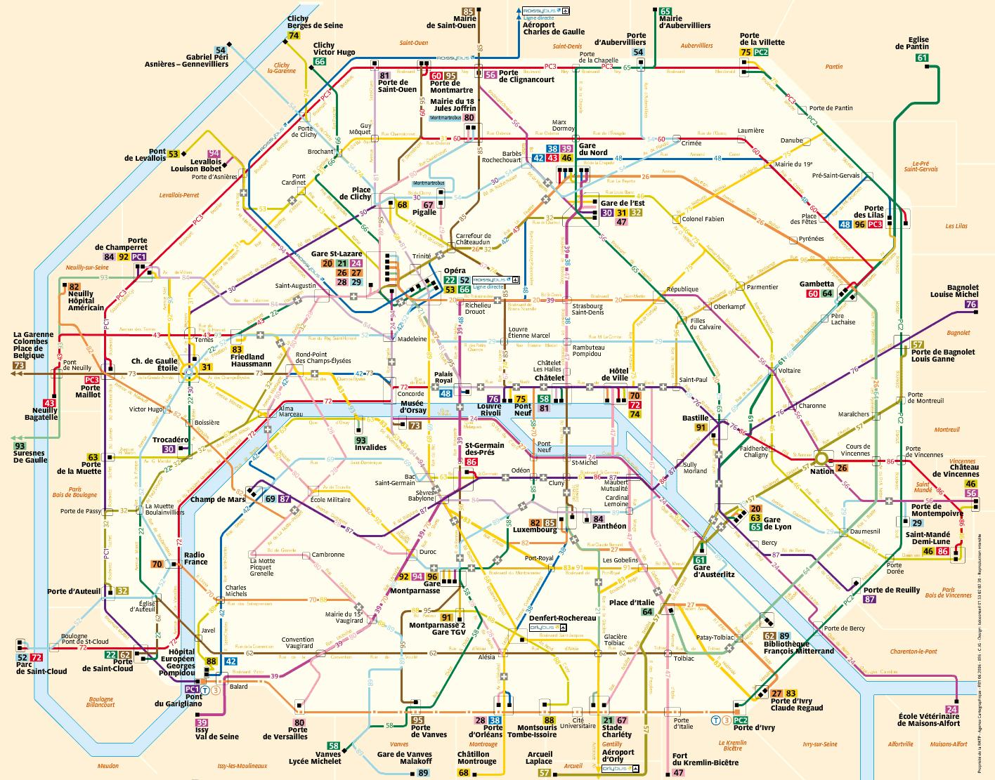 Paris Bus Lines
