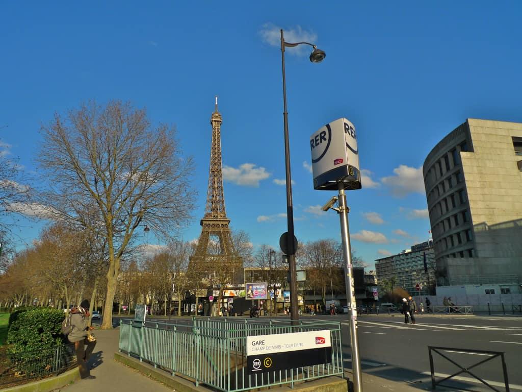 Champ De Mars - Tour Eiffel Station of RER C
