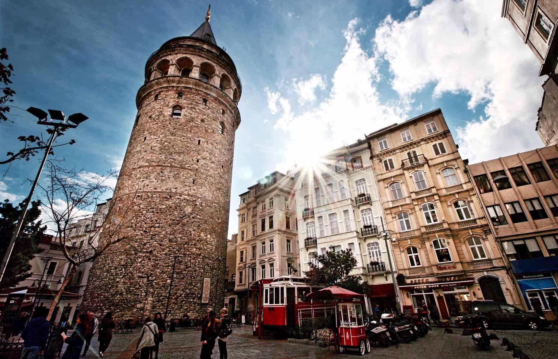 Galata Tower from the street level
