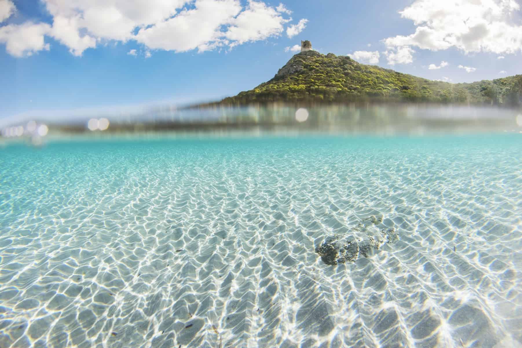 Crystalline water of Villasimius beach