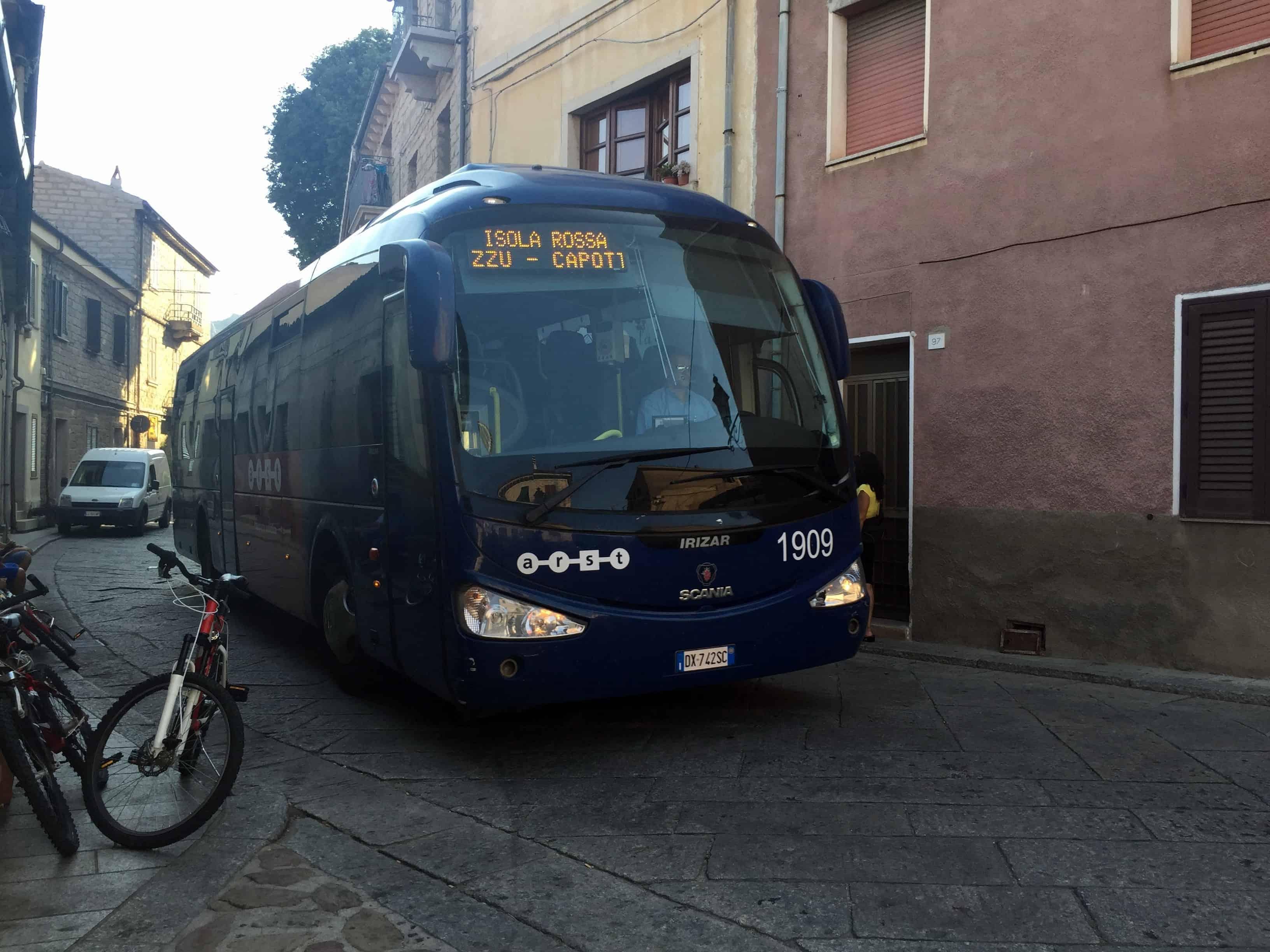 Sardinia Island ARST Buses