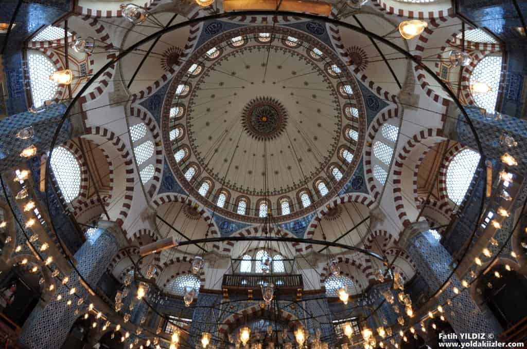Rustem Pasha Mosque interior with Iznik tiles