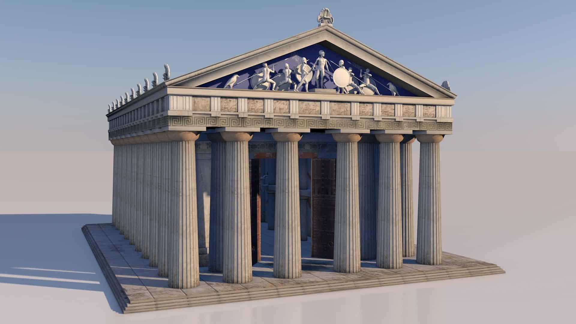 Doric style Greek Temple