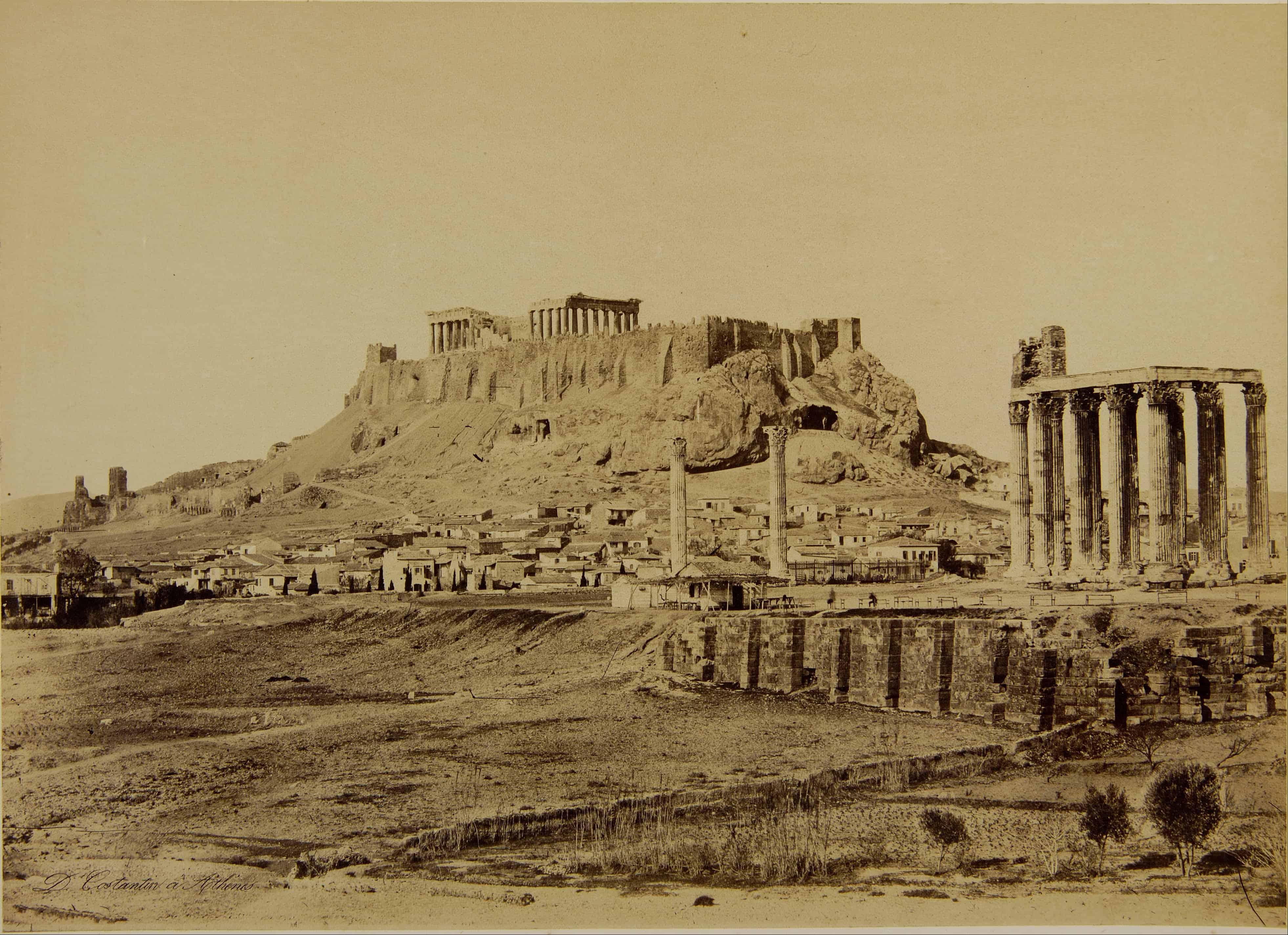 Temple of Olympian Zeus in 1865