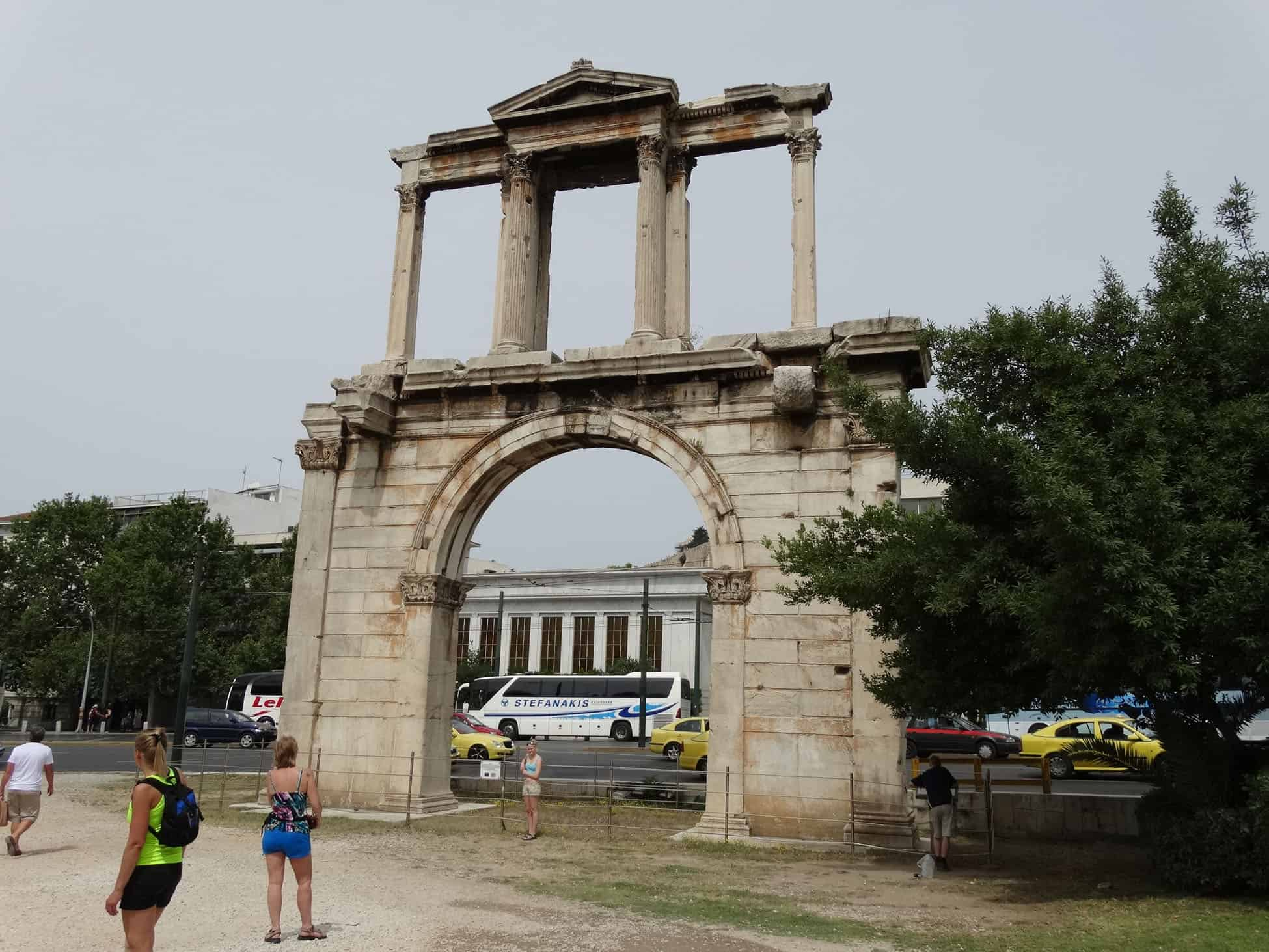 Hadrian's Arch in Athens