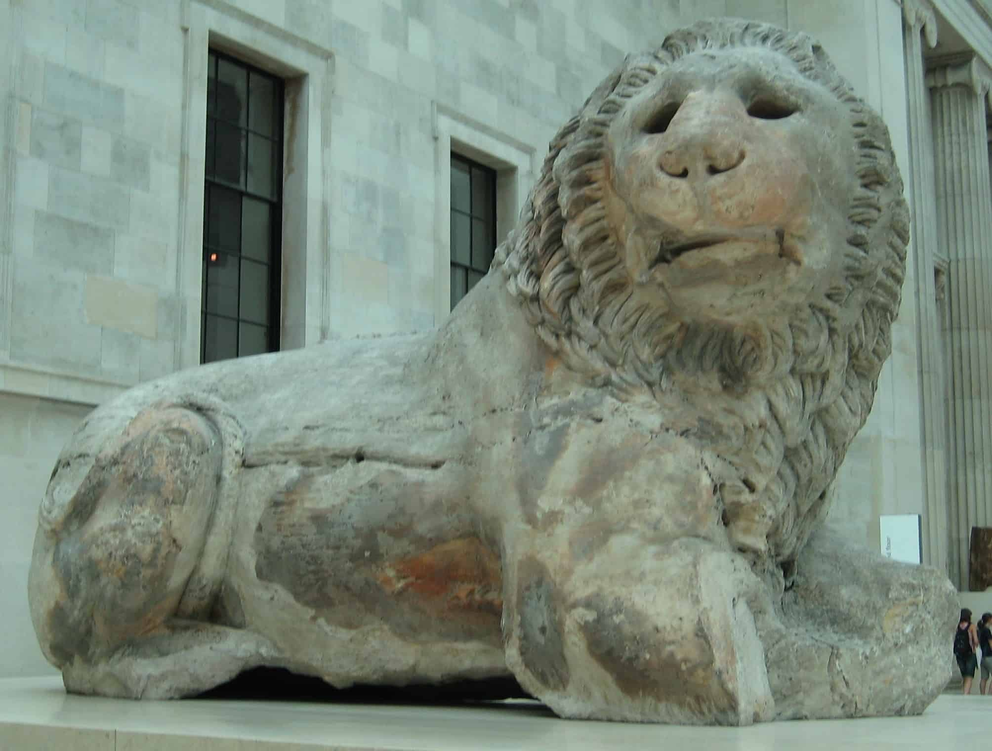 Lion of Knidos at the British Museum