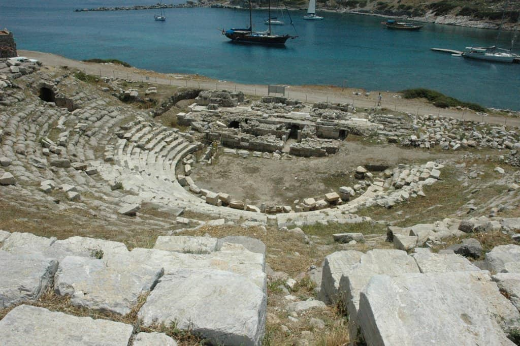 Knidos Ancient City theatre