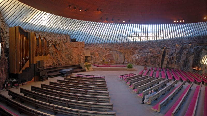 Temppeliaukio Kirkko (Church of The Rock) interior