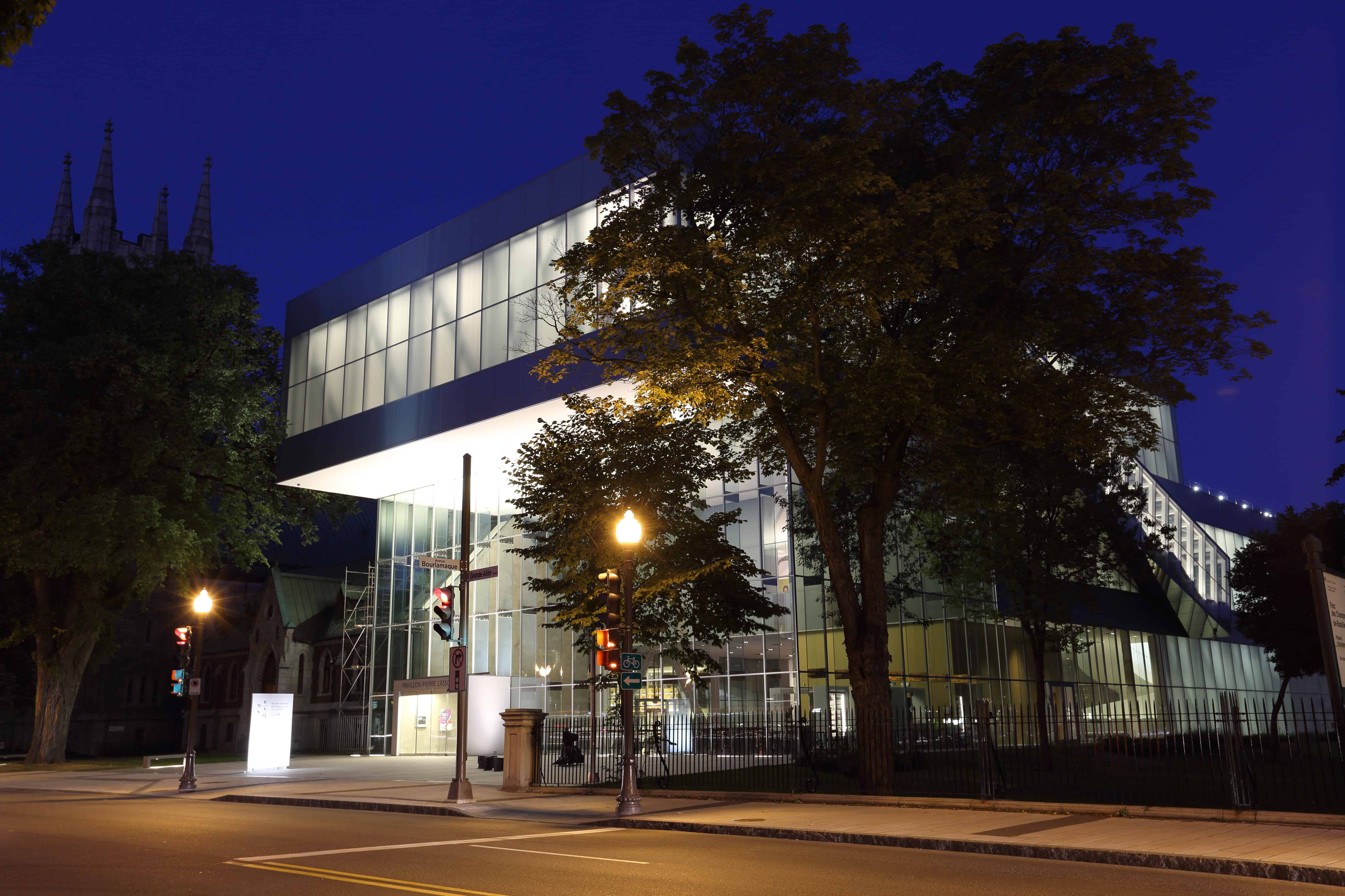 Picture of the Pierre Lassonde Pavilion at night