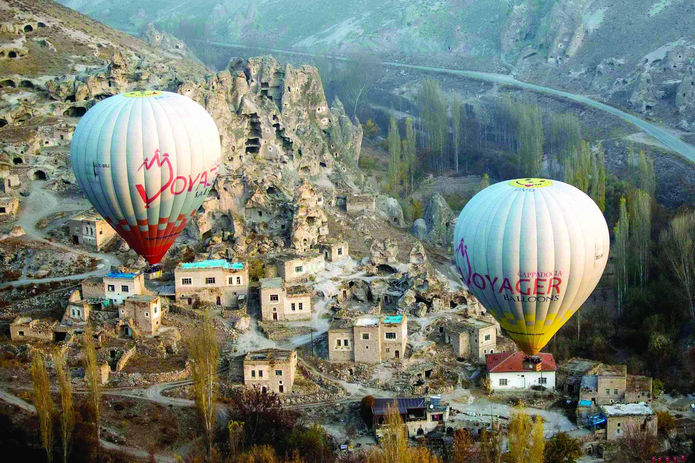 Two hot air balloon