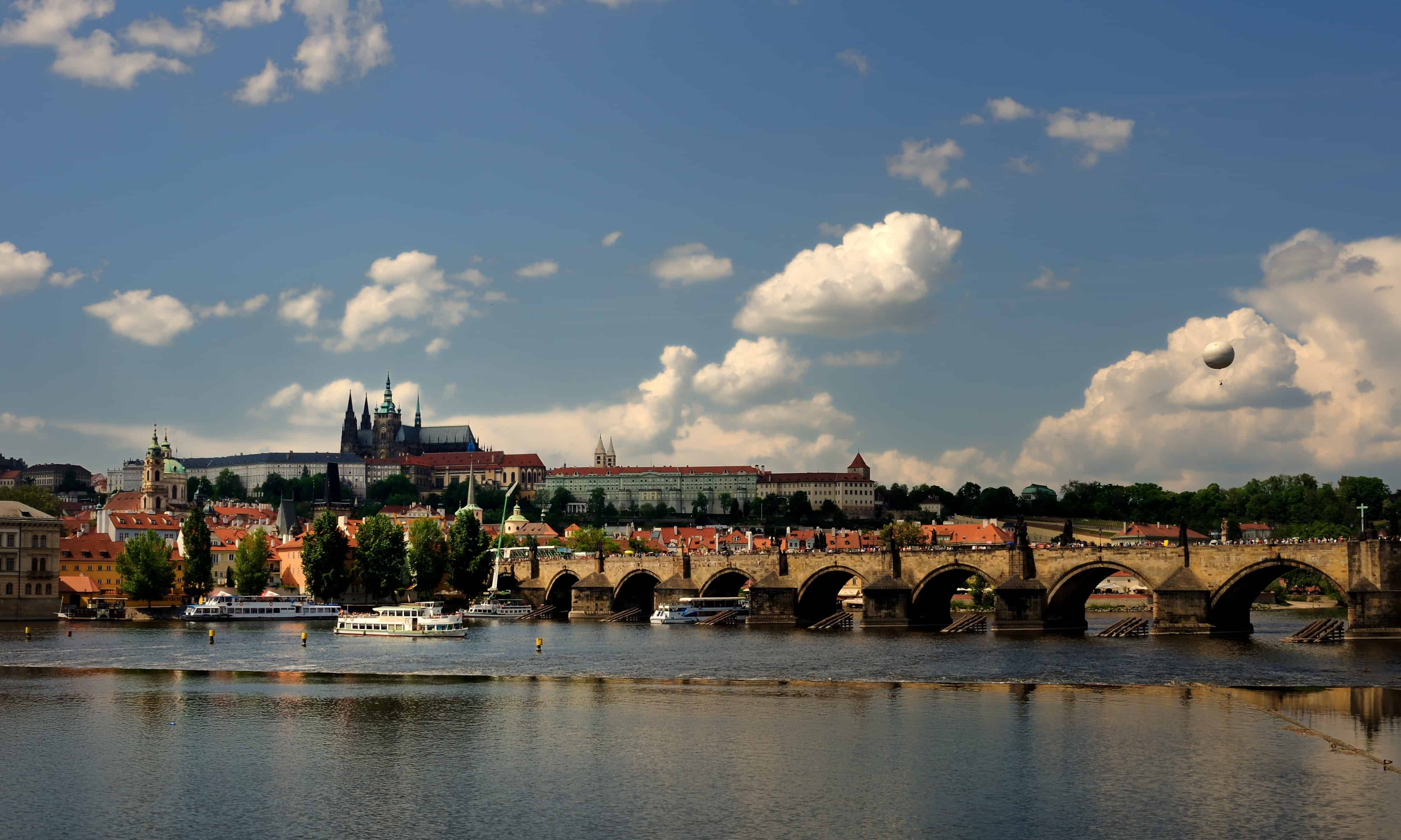 Prague Castle from Vltava bank