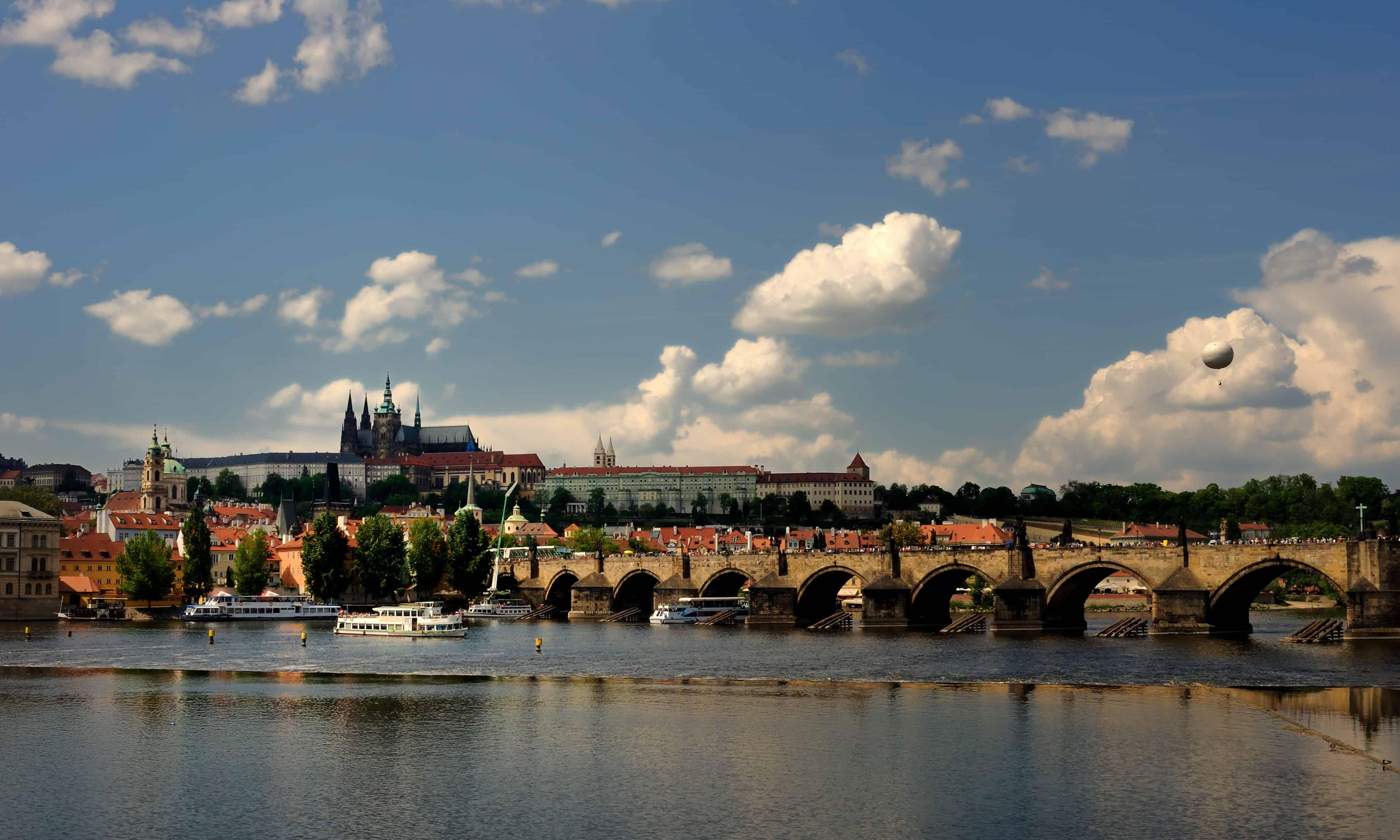 Prague Castle from Vltava bank
