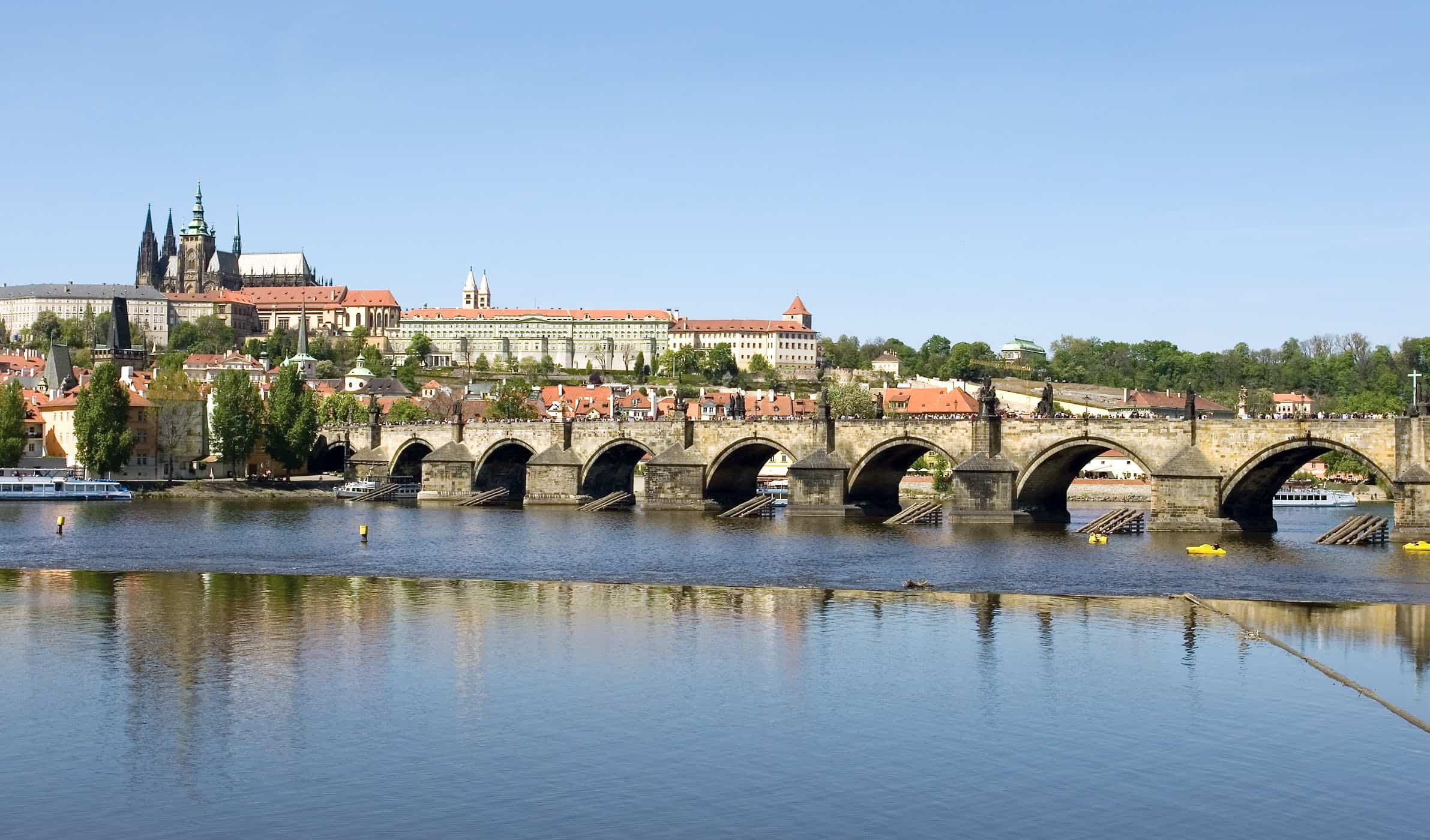 Panoramic view of the St. Charles Bridge (Karluv Most)