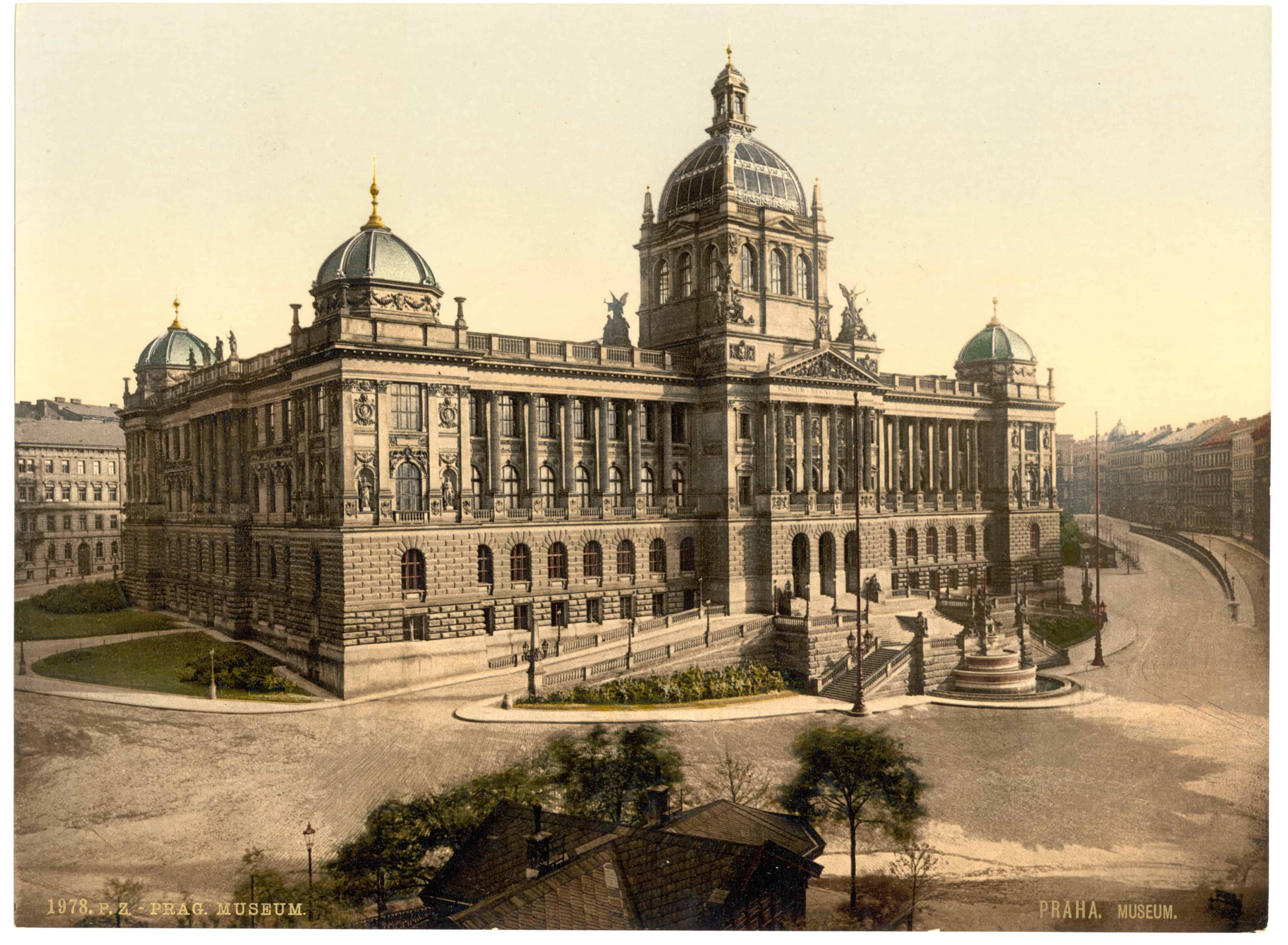 Prague National Museum (Národní Muzeum) in 1891