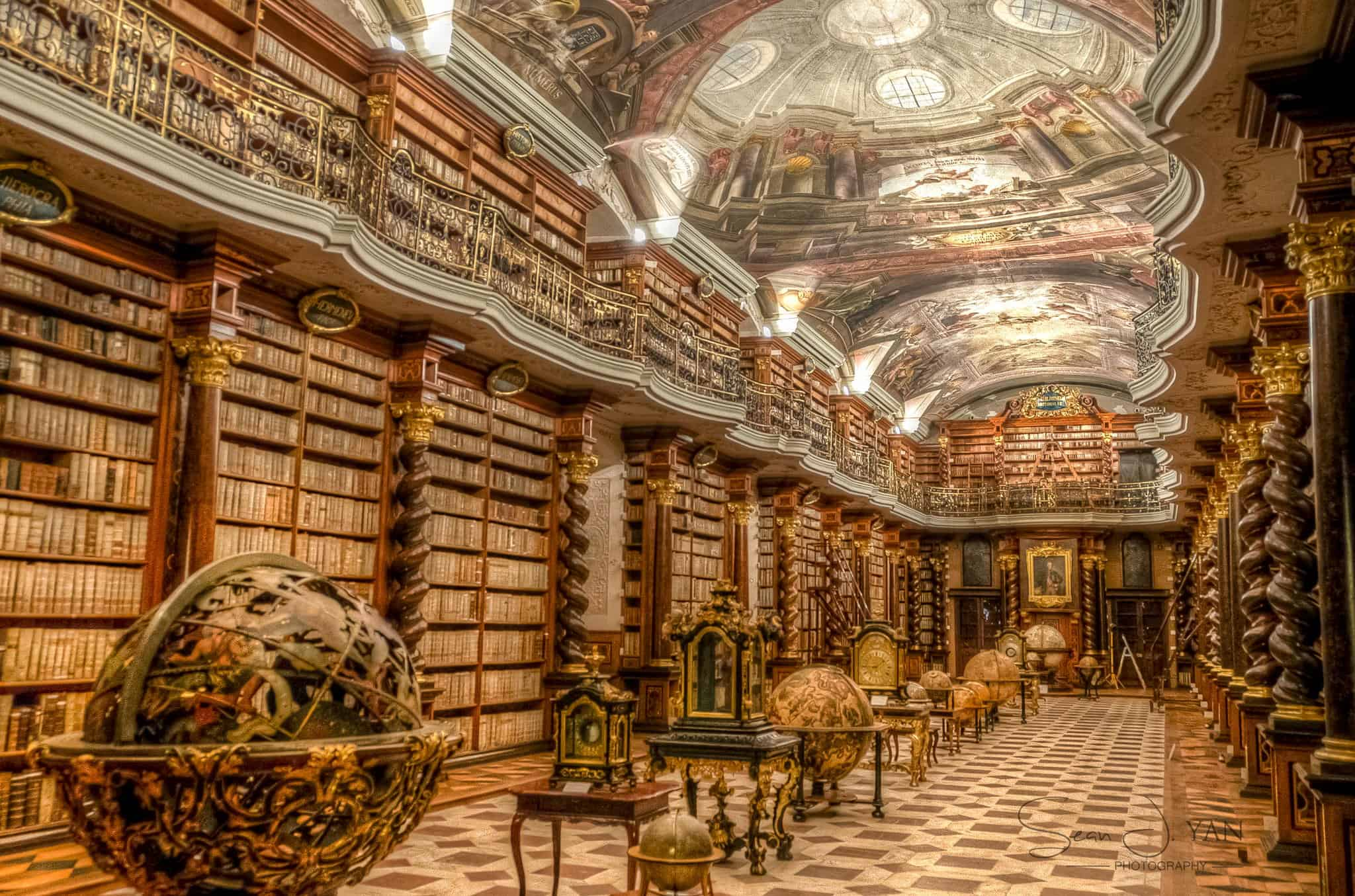 Interior of The Clementinum and the National Library