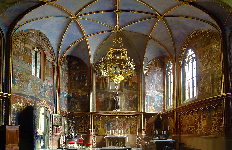 Interior of the St. Wenceslas Chapel