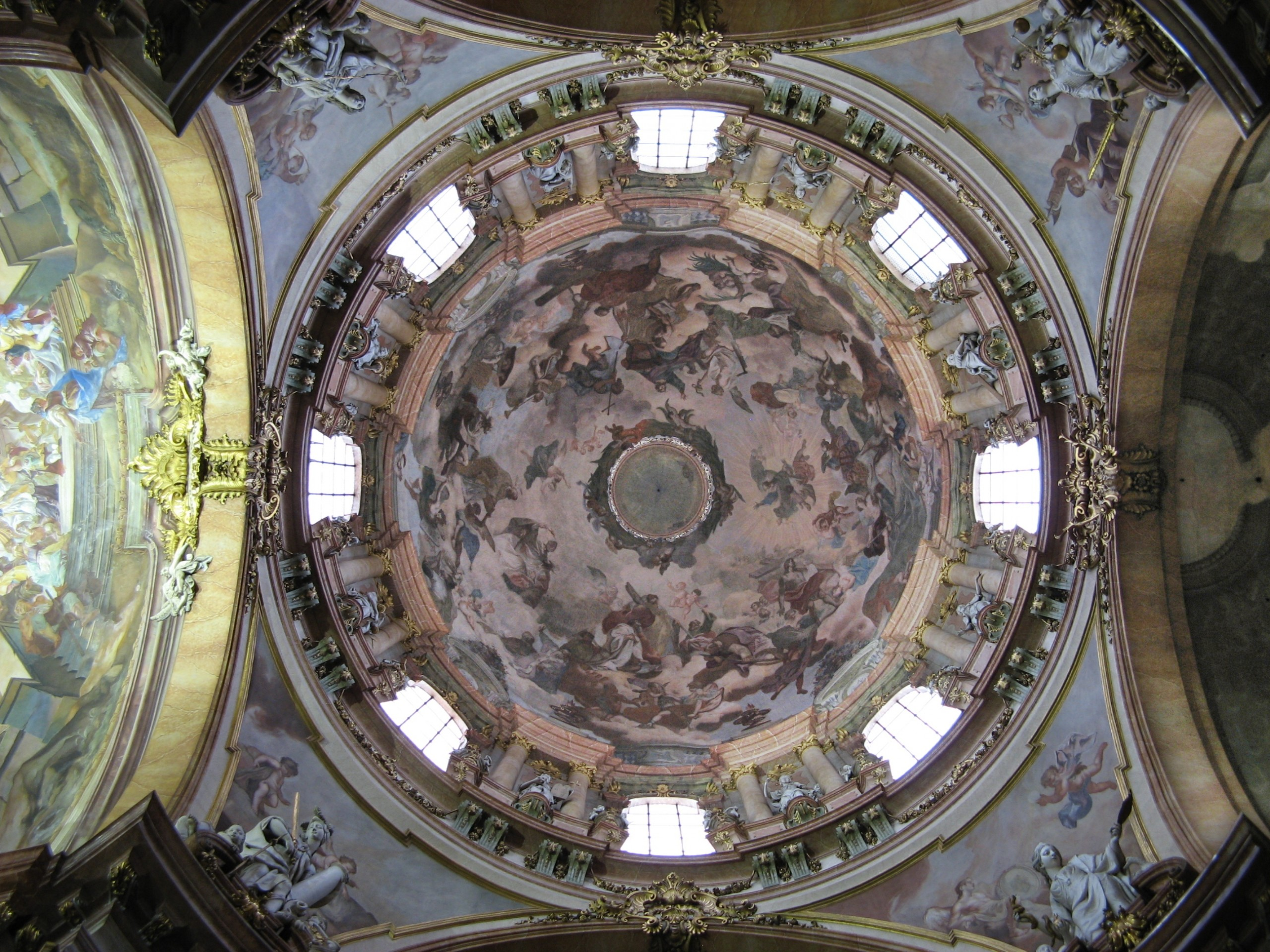 Interior side of the dome of St. Nicholas Church