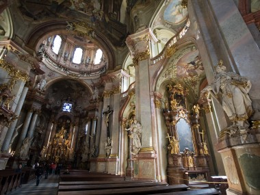 interior of St. Nicholas Church of Prague