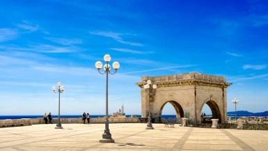 Sardinia Cagliari Saint Remy Bastion terrace