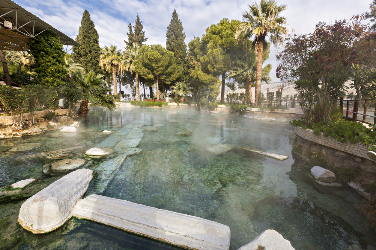 Ancient pool in the Hierapolis Ancient City