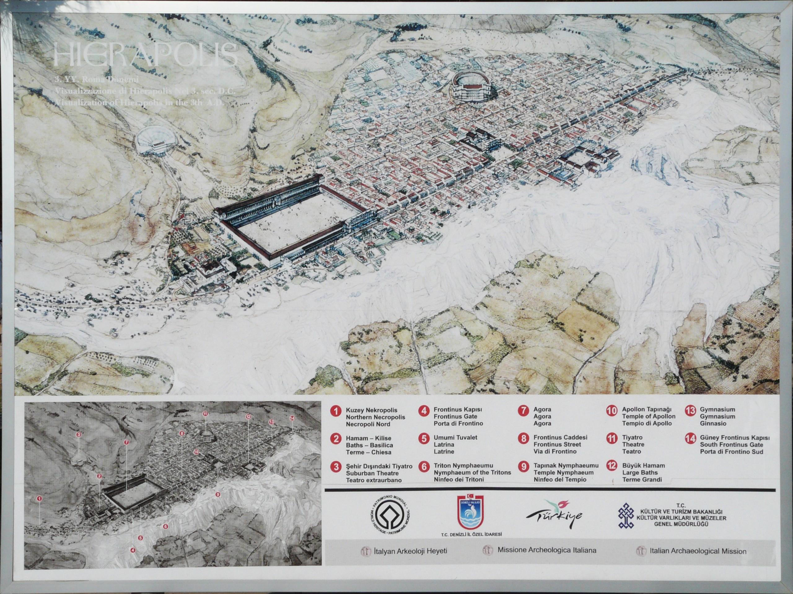 Hierapolis Ancient City map