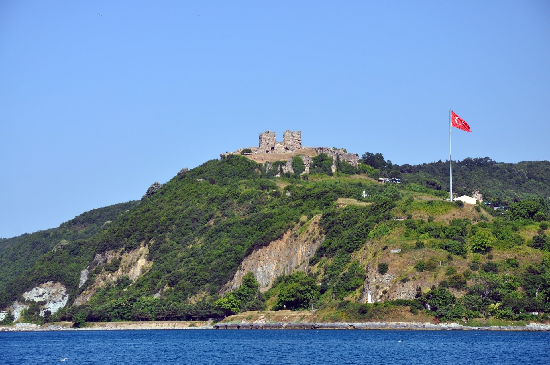 Yoros Castle from the Bosphorus Istanbul