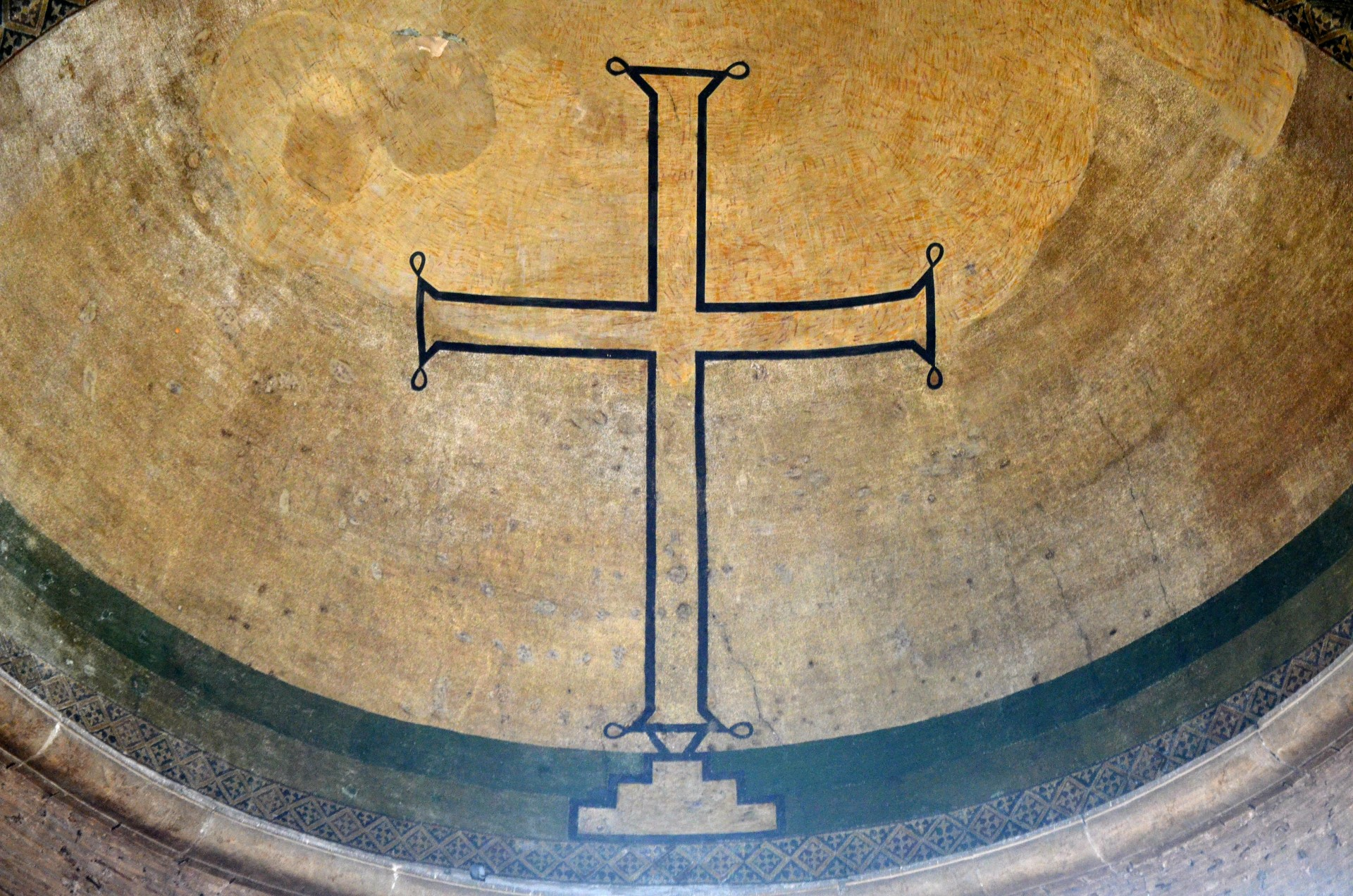 Hagia Irene ceiling with cross