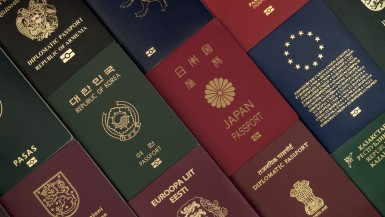 Various passports from different countries