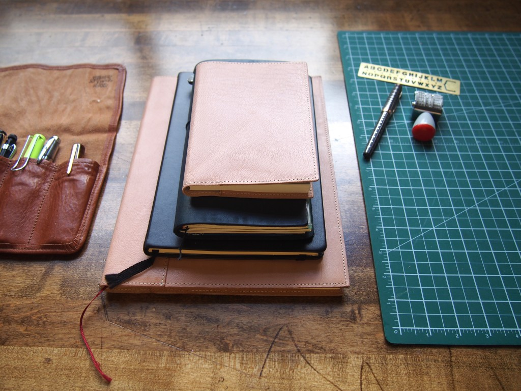 Different size Travellers Notebooks
